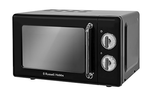 Russell Hobbs RHRETMM705B RETRO schwarz kompakte manuelle Mikrowelle (Mikrowelle Gerät)