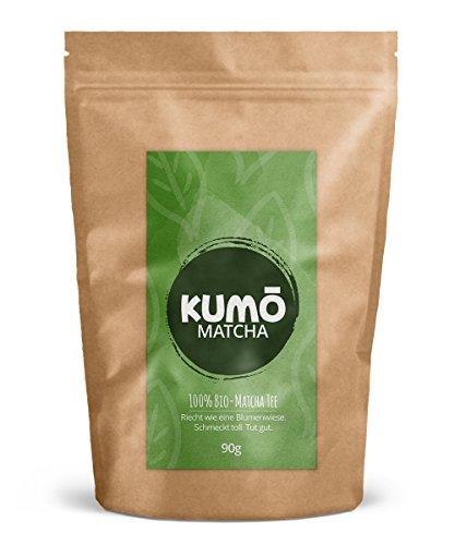 Bio-Matcha-Tee (90g) | für Matcha-Tee, Matcha-Latte, Cooking, Smoothies | 90g hochwertigstes Bio Matcha-Pulver | 100% Bio - aus nachhaltigem Anbau // Bio-Qualität von Kumo Matcha