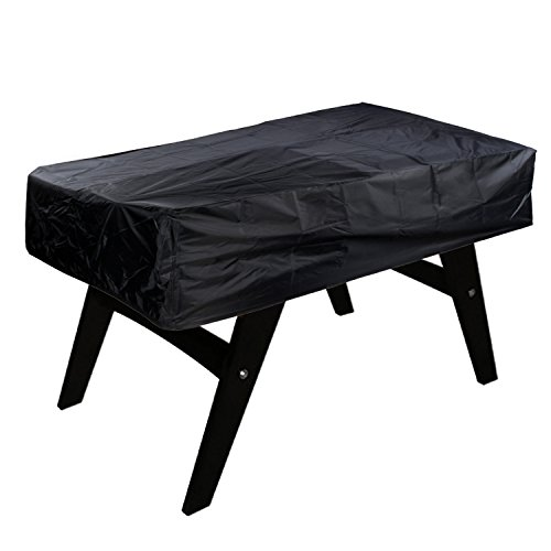 NOVSIGHT Football Table Cover 300D Oxford Outdoor Footsball Billiard Waterproof Sun UV Dust Protect Black Heavy Duty 63 x 45 x 19.7inch