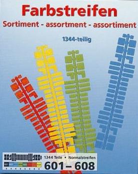 Preisvergleich Produktbild Mini Stecksystem Farbstreifensortiment Standard v. 601-608, ca. 1.344 Teile Nr. 40100, im Polybeutel