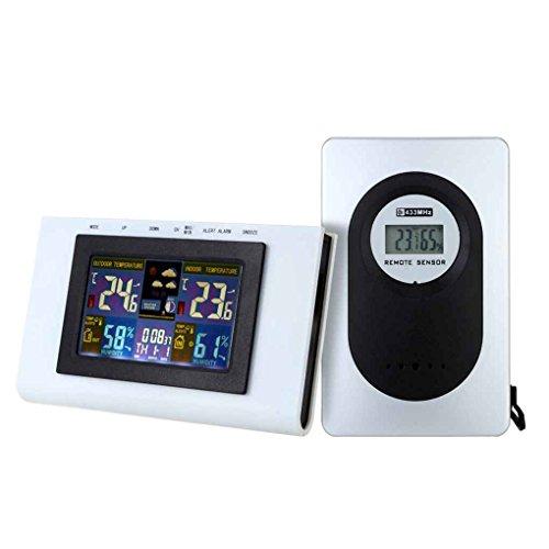 fgghfgrtgtg Wetterstation Wireless Digital Thermo-Hygrometer Humidometer Temperaturanzeige Meter Wecker Datumsanzeige - Wireless Thermo-hygrometer
