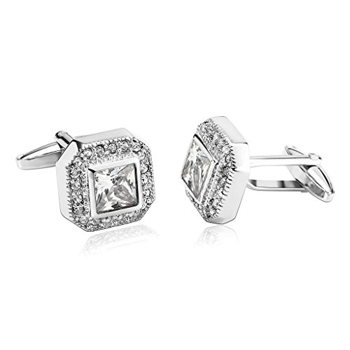 epinki-mens-stainless-steel-fancy-series-cubic-zirconia-polygon-silver-stylish-modern-cufflinks