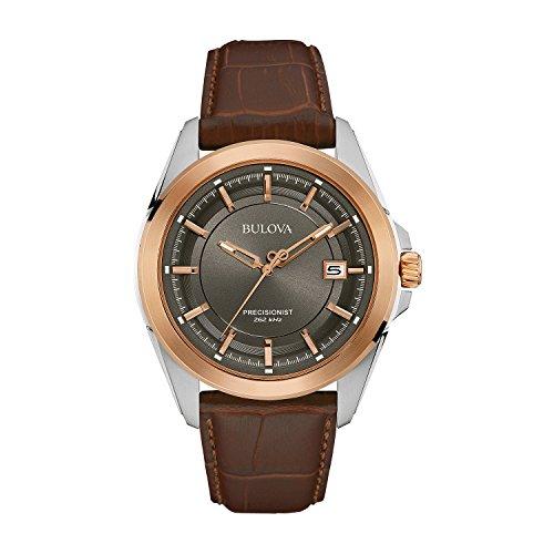 Bulova Precisionist 98B267 - Herren Designer-Armbanduhr mit Roségold - Armband aus - Herren Bulova Uhr Grau