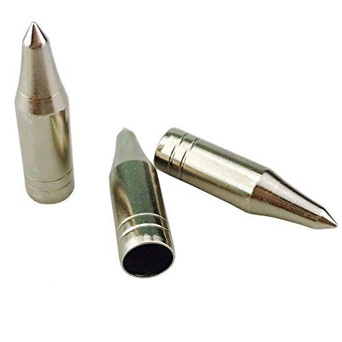 ZSHJG Ziel-Jagdspitzen 8mm Feld-Pfeil Tipps Point Target Practice Pfeilspitze für traditionelle Bogen aus Holz und Bambus Pfeil (24 Stück)
