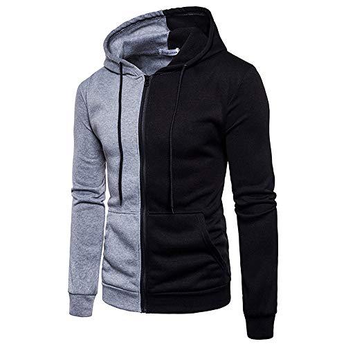 JiaMeng Heißer Herbst Winter männer Tops Outwear Bluse Männer Langarm-Hoodie Nähte Reißverschluss Mantel Jacke Outwear Sport Oberteile