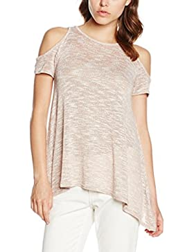New Look Hanky Cold Shoulder, Camiseta sin Mangas para Mujer