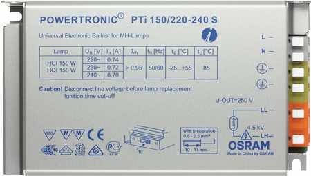 OSRAM PTI 150/220-240S EVG POWERTRONIC OHNE ZUGENTL