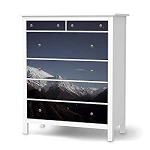 IKEA hemnes sticker autocollant design commode 6 tiroirs mountain sky natur) film