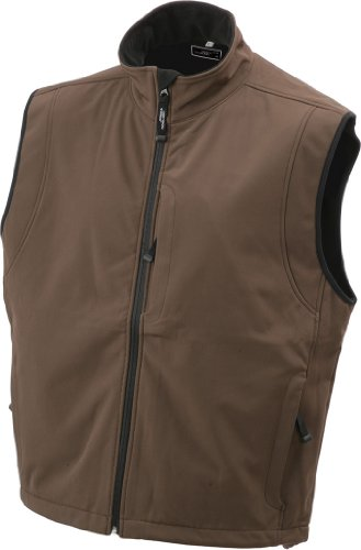 Herren Softshell Weste Westen Businessweste bedruckbare Brown
