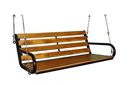 Kaushalendra Garden Zula Wooden Hanging Swing Teak Set