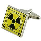 Manschettenknöpfe radioaktiven Manschettenknöpfe~ Atomenergie Kernenergie~ giftige Neuheit Stil Manschettenknöpfe wählen Sie Geschenk Tasche