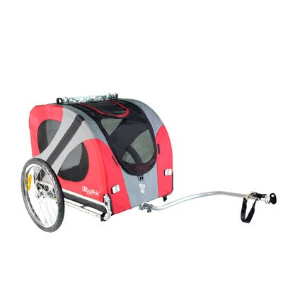 doggyride-original-dog-bike-trailer-easily-converts-to-jogger-stroller-with-optional-kit-urban-red