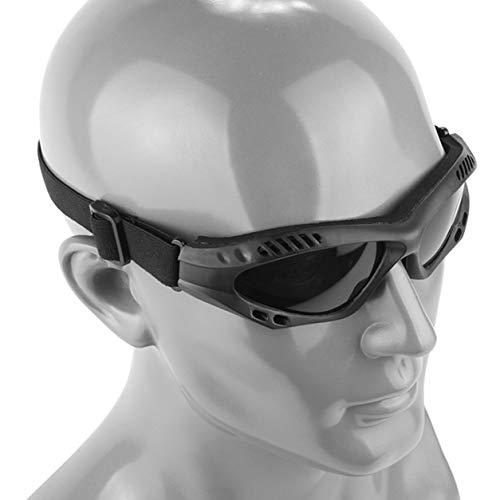 Dailyinshop Motocicleta Caza Gafas de Sol Militares del Desierto Gafas Antideslizantes tácticas a Prueba de Viento Gafas de Sol de Motocicleta al Aire Libre (Color: Negro)