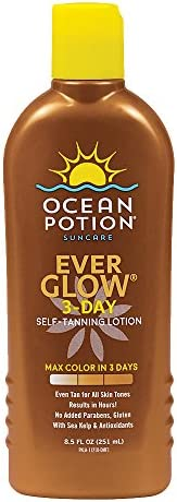 Ocean Potion Ever Glow 3-Day Self Tanning Lotion, 251 ml