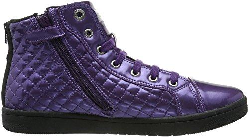 Geox Jr Creamy, Baskets mode fille Violet (Violet)