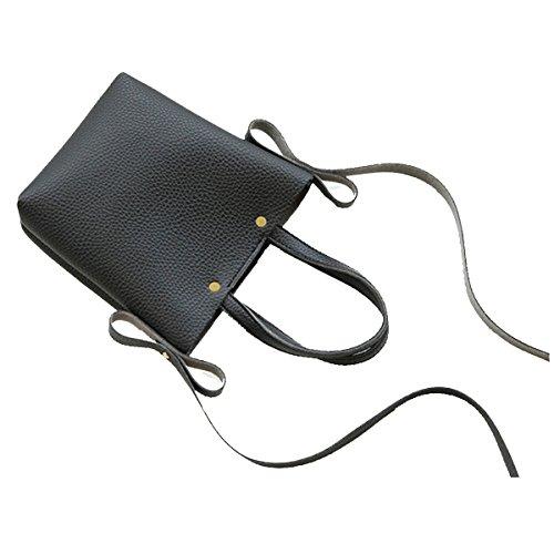 Umhängetasche Frauen Multi-Taschen-Geldbeutel-Beutel-Spielraum-Schulter-Handtaschen Black