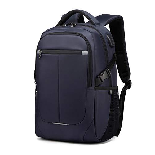 Laptop-Tasche mit USB-Ladeanschluss und Kopfhöreranschluss , Laptop-Rucksack Umhängetasche Umhängetasche Männer und Frauen Neue Studententasche Mode wild, 15,6 Zoll-Blau