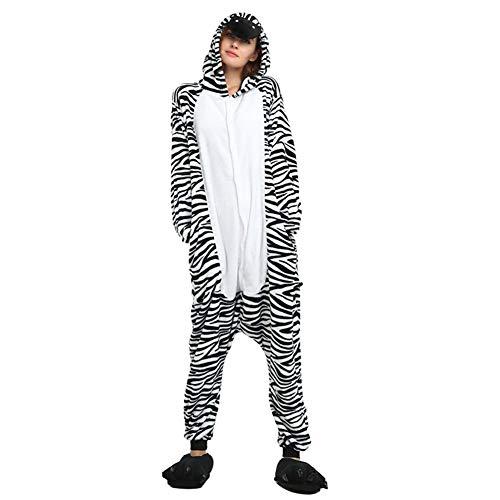 hsene Plüsch One Piece Pyjamas Zebra Overall Anime Cosplay,XL ()