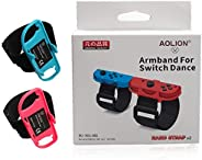 MeterMall New 1 Pair Adjustable Game Bracelet Elastic Strap for Nintendo Switch Joy-Con Controller Wrist Dance Band