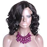 vente chaude vague de corps courts perruques pour les femmes noires 13x6 avant de dentelle perruque vendre 130% de densit 16 coule