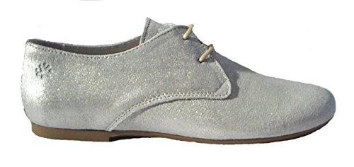 Acebo's Desert Boots Schnürer Halbschuhe Leder silber Silver