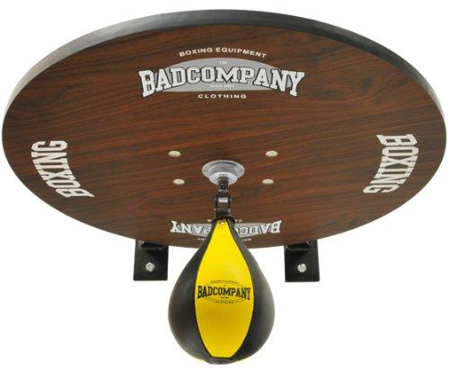Premium Speedball Plattform Set inkl. Drehkugellagerung schwarz und PU Boxbirne medium gelb  Boxapparat für die Wandmontage BCA
