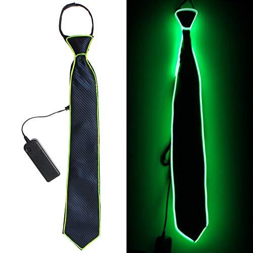 (LED leuchten Krawatten Kostüm Zubehör für neue Jahre Rave Party leuchten Krawatte (Grün))