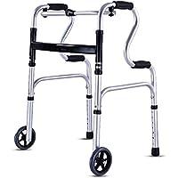 Estándar Caminantes Adulto Aluminio Plegable Ajustable Altura Manejar Médico Discapacitado 2 Ruedas Estar Ayudar Caminantes