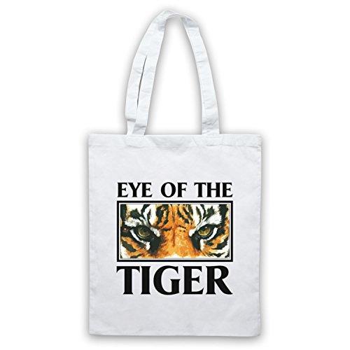Inspiriert durch Rocky Survivor Eye Of The Tiger Inoffiziell Umhangetaschen Weis