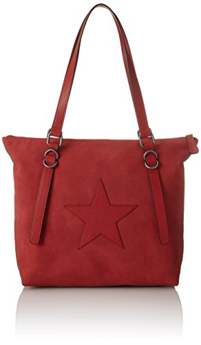 s.Oliver Bags Damen 39.802.94.4452 Henkeltasche, Orange (Rusty Red), 11x29x40 cm