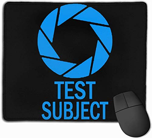 Aperture Science Test Mousepad Rutschfeste Gaming-Mausunterlage Mousepad