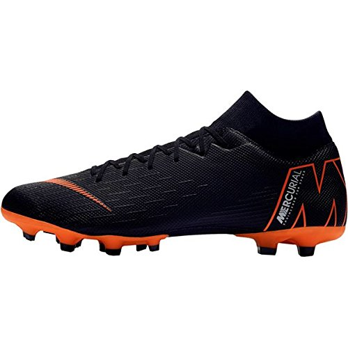 Nike Herren Mercurial Superfly VI Academy MG Fußballschuhe, Schwarz (Black/Total Orange-W 081), 39 EU