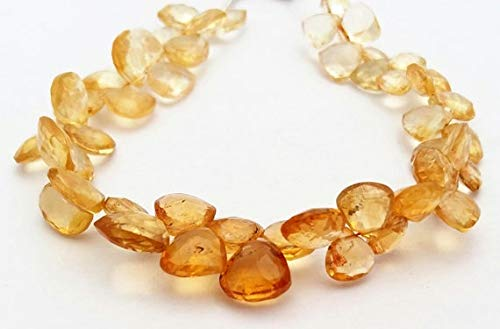 LOVEKUSH 50% Off Gemstone Jewellery Nice quality Natural CITRINE faceted Heart & triangle shaped beads,very beautiful gemstone, 7x7 mm to 8x9 mm approx,8' strand[E1228] Citrine Code:- RADE-33333