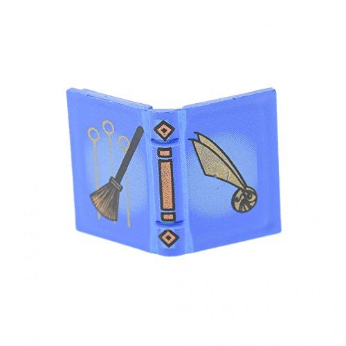 blau 2 x 3 bedruckt Quidditch Besen der goldene Schnatz Figur Zubehör Harry Potter Book für Set 4719 4726 33009pb004 (Harry Potter Auf Einem Besen)