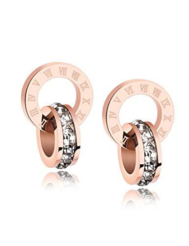 WSQJPEH888 Damen Ohrringe, Mode Trend Runde Design Ohrringe, geeignet für drinnen und draußen, Bankett, Party, Sport, Ohrringe (Color : A)