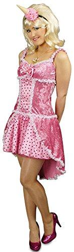 Rosa Candy Girl Kostüm für Damen Gr. 44 46 - Süßes Kleid für Einhorn, Candy oder Prinzessin Kostüm zu Karneval oder Mottoparty