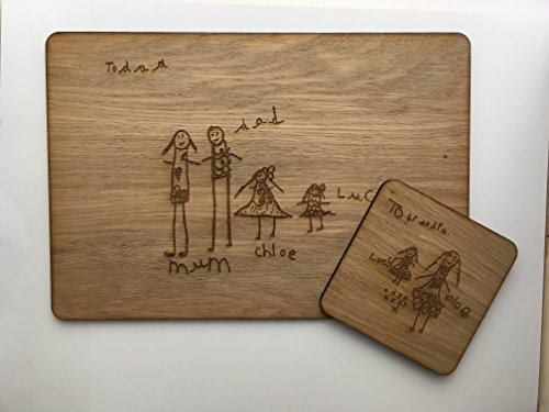 Personalised products Coasters/Placemat/keyrings/spoons with your own artwork/drawings