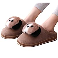 CNNWomen Winter House Slippers Womens Cartoon Panda Fleece Lined Slipper Anti-Slip Open Back Slippers for Indoor