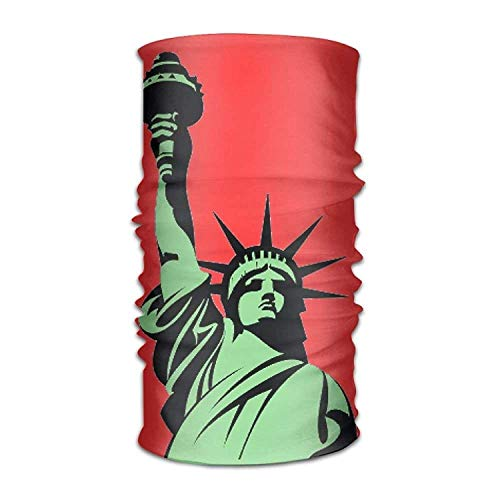 Bandana Headband Fashion USA Statue of Liberty Multifunction Magic Handscarf,Face Mask,Neck Gaiter,Balaclava,Sweatband,Head Wrap,Outdoor Sport UV Resistence.