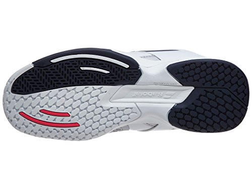 Babolat Junior Propulse AC Tennis Schuhe Weiß/Marineblau/Rot