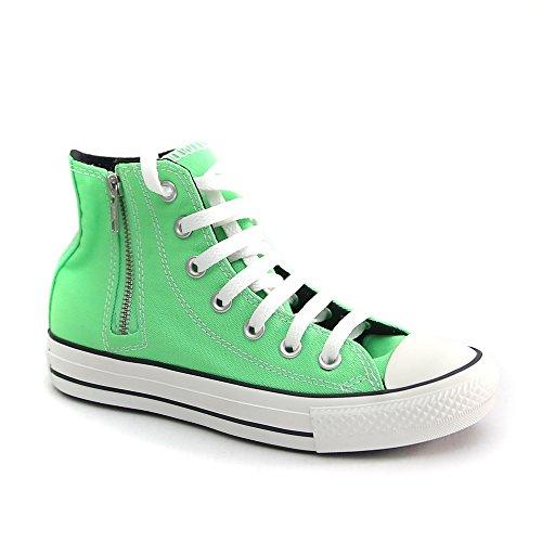 Converse Alta Zip Taylor Chuck Sneaker Neon Verde Tela Laterale Hi Unisex rOprwq