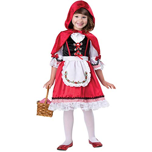 Kostüm Riding Girl Red Hood Little - Yiwa Girl Lace Panel German Dirndl Dress for Oktoberfest Halloween Little Red Riding Hood Cosplay Costume red S