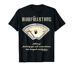 Bier T-Shirt Bierfüllstand Anzeige auf Reserve