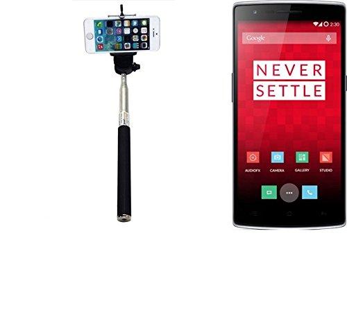 K-S-Trade® per OnePlus One Bastone Selfie Selfiestick Asta Autoritratto telescopica Fotografico Monopiede Selfie Stick per OnePlus One Nero