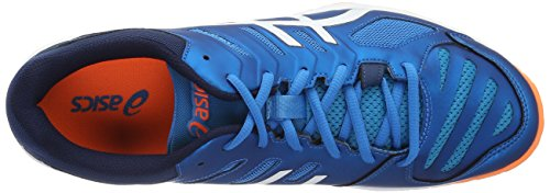 Asics Gel Beyond 5, Chaussures de Volleyball Homme Bleu (Blue Jewel/White/Hot Orange)