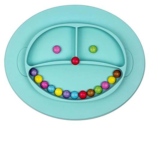 Babylovit BPA -freier und Rutschfester Kinderteller - geprüfter Breischale - Babyteller- Babygeschirr Teller für Baby und Kleinkinder Rutsch und Saugfest aus Silikon