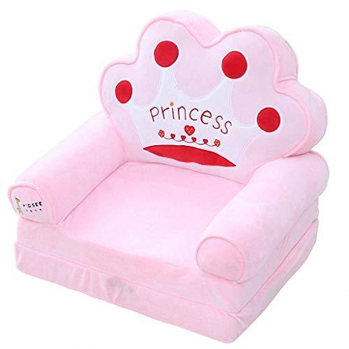 Baby kleine Sofa niedlichen Cartoon Kinder Sofa Stuhl Mini Single Baby Lazy Stuhl Kinder Stuhl Hocker (Farbe : Pink Crown)