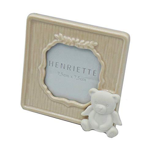 Henriette: cornice quadrata rosa orsetto d14647