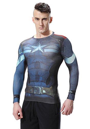 CODY Lundin®-Übung für Fitness und Kompression Strumpfhosen Digital Printing Film Thema Hero Shirt Langarm Sport T-Shirt Multicoloured