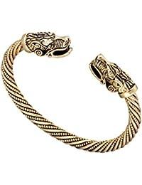 Mode indien Loup Viking Bracelet Bracelet manchette pour homme et femme